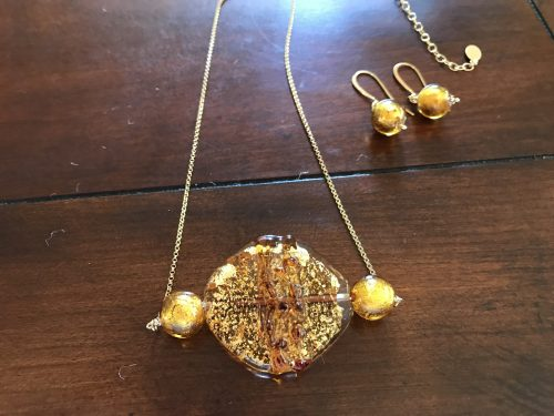 Murano Glass Jewelry Set by Patti Pojer  - featured on Jewelry Making Journal