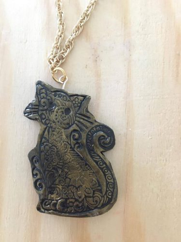 'Purr'fect Pendant by Deepa  - featured on Jewelry Making Journal