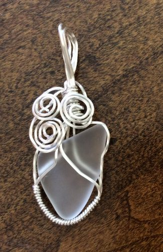 Sea Glass and Pendants for a Wedding by Patti Kubran  - featured on Jewelry Making Journal