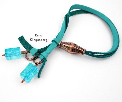 Adjustable Sliding Leather Bracelet (Tutorial)