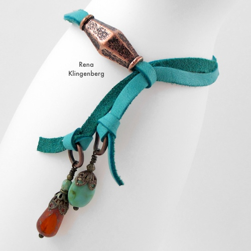 Adjustable Sliding Leather Bracelet Tutorial by Rena Klingenberg