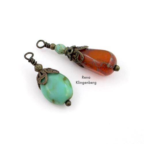 Adjustable Sliding Leather Bracelet Tutorial by Rena Klingenberg - beads for the cord ends
