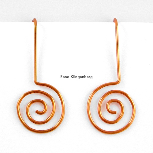 Changeable Spiral Earwires Tutorial by Rena Klingenberg