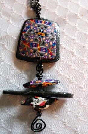Japanese Style Kaleidoscope Pendant by Esther Schmidt  - featured on Jewelry Making Journal