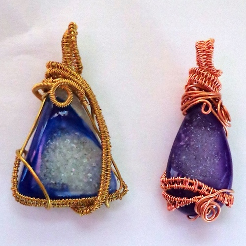 Wire Weave Pendants, by Jules  - featured on Jewelry Making Journal