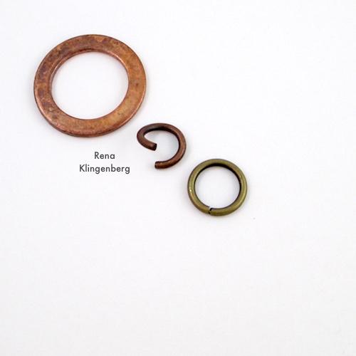 Rugged Mixed Metal Chain Bracelet Tutorial by Rena Klingenberg