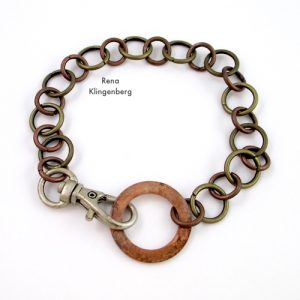 Rugged Mixed Metal Chain Bracelet (Tutorial)