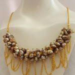 Pearl Cluster Tassel Necklace