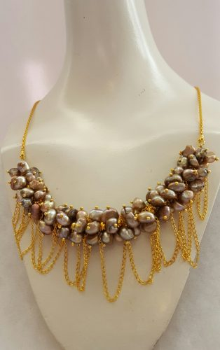 Pearl Cluster Tassel Necklace, by Stephanie Little  - featured on Jewelry Making Journal