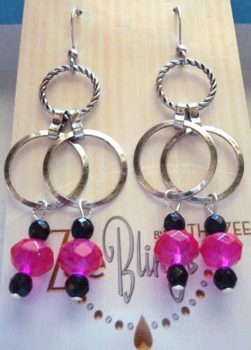 Earrings Using Leftover Chain by Kathy Zee  - featured on Jewelry Making Journal