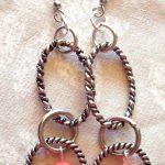 Earrings Using Leftover Chain