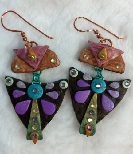 Polymer Clay Earrings for Geometric Bliss Jewelry Jewelry Set, by Rebecca Doremus  - featured on Jewelry Making Journal