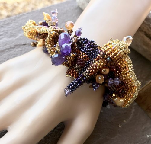 Wearable Art for the Wrist, by Lindy Hartig  - featured on Jewelry Making Journal
