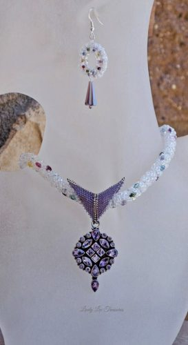 Upcycled Sterling and Amethyst Pendant, by Lindy Lee  - featured on Jewelry Making Journal