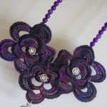 Purple Lace and Pink Sapphire Necklace