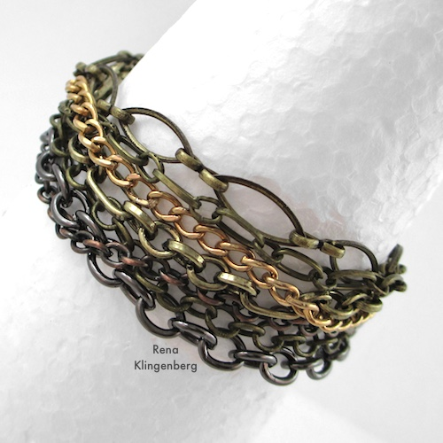 Chain Reaction Bracelet Tutorial by Rena Klingenberg