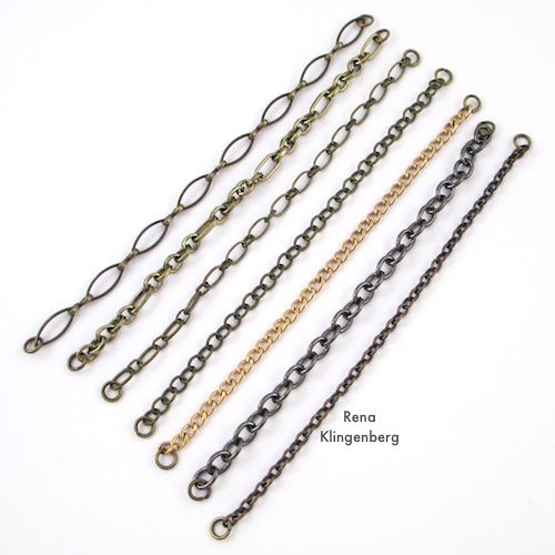 Chain Reaction Bracelet Tutorial by Rena Klingenberg - attaching jump rings