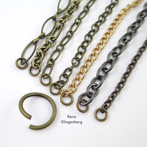 Chain Reaction Bracelet Tutorial by Rena Klingenberg - finishing bracelet ends