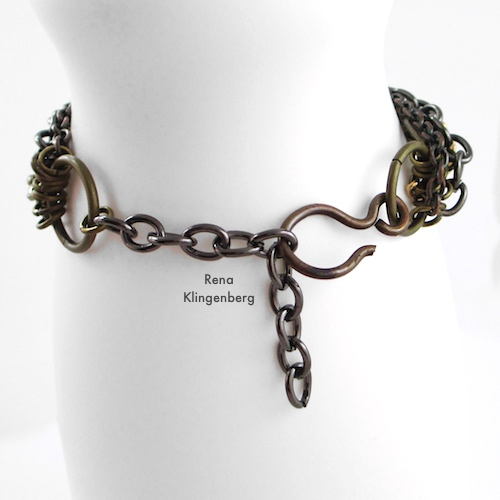 Chain Reaction Bracelet Tutorial by Rena Klingenberg - bracelet extender chain