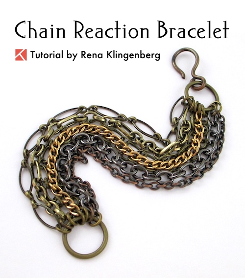 Chain Reaction Bracelet Tutorial by Rena Klingenberg  - featured on Jewelry Making Journalchain-reaction-bracelet-tutorial-j