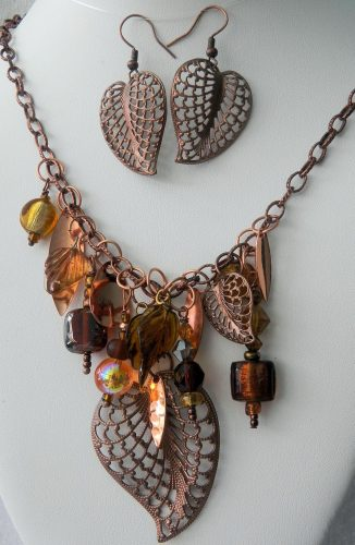 Falling Leaves and Colors of Autumn Jewelry Set by Carolyn Kopchik