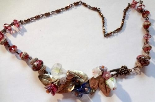 Necklace-Flower Bouquet for Your Neck, by Debra Lowe  - featured on Jewelry Making Journal
