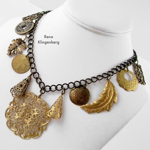 Gypsy Charm Necklace Tutorial by Rena Klingenberg