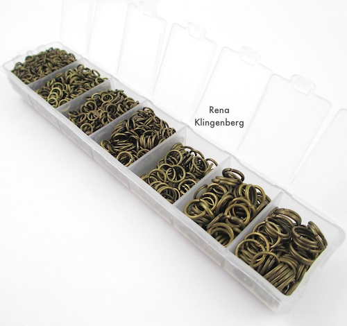 Storing jump rings in pill organizer container - Rena Klingenberg, Jewelry Making Journal
