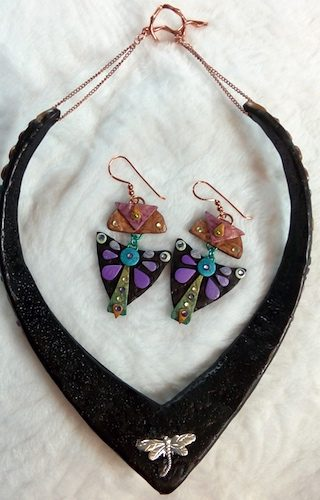 Geometric Bliss Polymer Clay Jewelry by Rebecca Doremus  - featured on Jewelry Making Journal