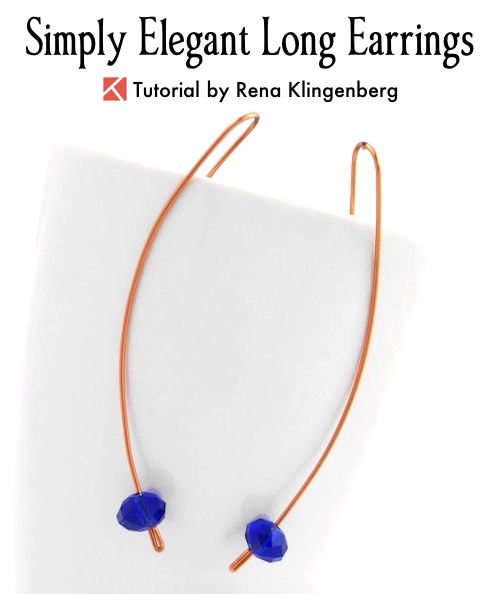 Simply Elegant Long Earrings Tutorial by Rena Klingenberg
