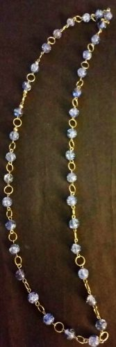 Crackle two-tier necklace by Joybelle Malcolm  - featured on Jewelry Making Journal
