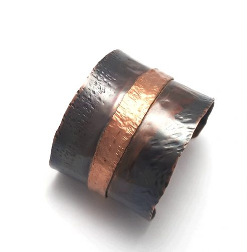Fold Forming and Oxidized Cuff Bracelet, by Dianne Jacques  - featured on Jewelry Making Journal
