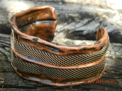 Recycled Copper Cuff by Rebecca Jamin  - featured on Jewelry Making Journal