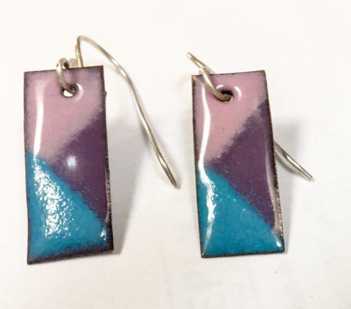 Enamel Earrings by Kim Pernia  - featured on Jewelry Making Journal
