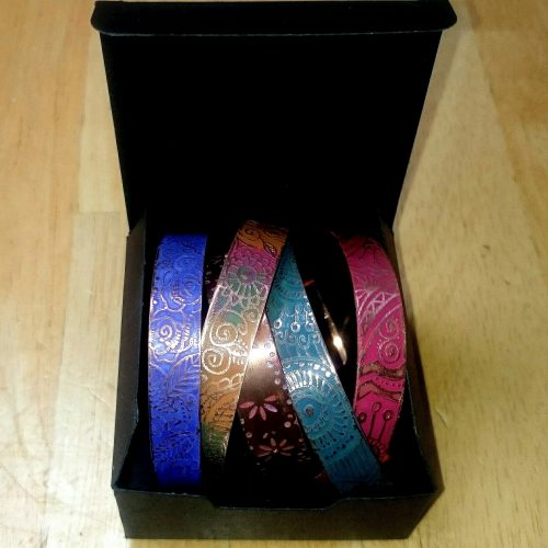 Etched Copper Cuff Bangles by Kathleen Moore  - featured on Jewelry Making Journal