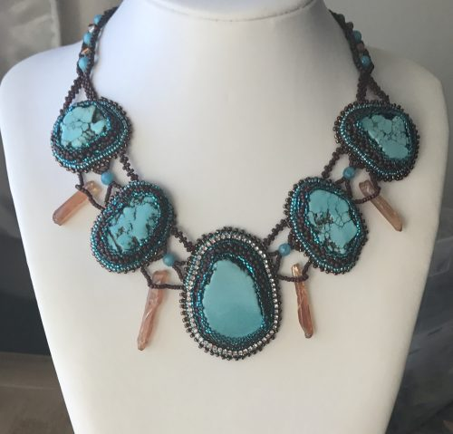 Bead Embroidery; Lindy Lee  - featured on Jewelry Making Journal
