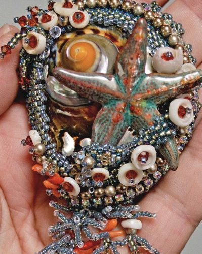 Bead Embroidery from a Kit; Lindy Lee  - featured on Jewelry Making Journal
