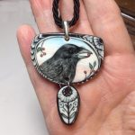 Hand Painted Porcelain Pendants – Wearable Art
