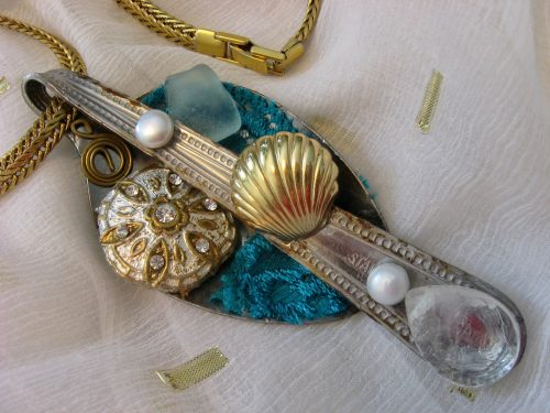 Big Dipper Mixed Media Necklace, by Tamara Robertson  - featured on Jewelry Making Journal