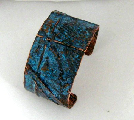 Fold Forming and Patina Cuff Bracelet, by Dianne Jacques  - featured on Jewelry Making Journal