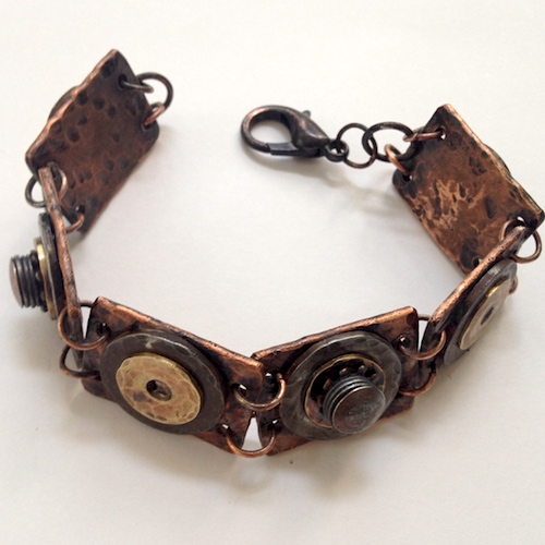 Hardware Jewelry from Copper Pipe and Washers, by Carol Wofford  - featured on Jewelry Making Journal
