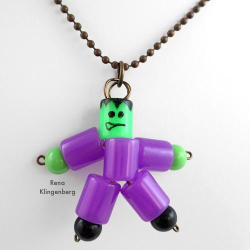 Frankenstein Necklace - Halloween Jewelry