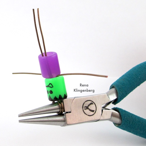 Frankenstein Necklace - Halloween Jewelry Tutorial by Rena Klingenberg - putting Frankenstein together