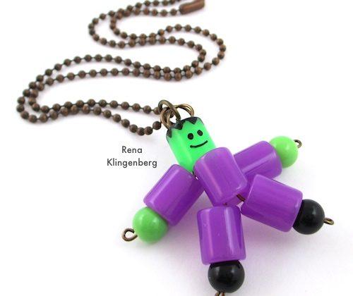Frankenstein Necklace – Halloween Jewelry Tutorial