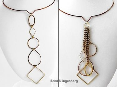 Geometric Waterfall Neckwire, Two Ways (Tutorial)