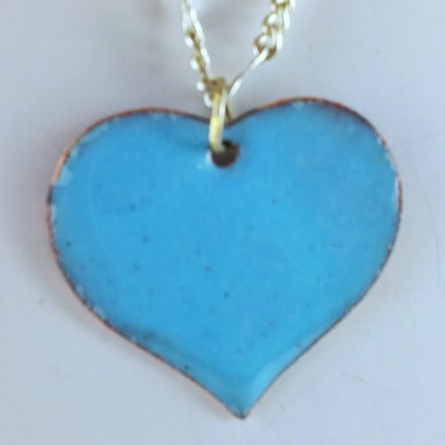 Enamel Pendant by Kim Pernia  - featured on Jewelry Making Journal