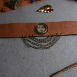 Leather Cuff Bracelets with Other Elements