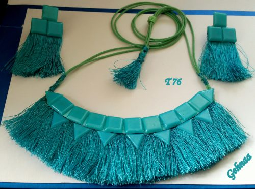 Silk Thread Jewelry by Gita Ramachandran  - featured on Jewelry Making Journal