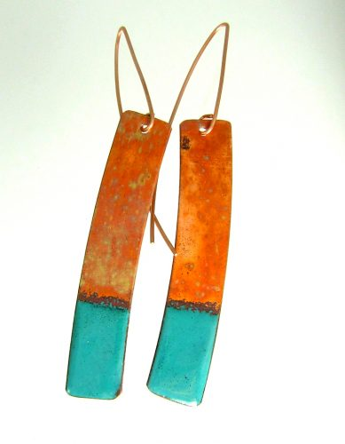 Rustic or Satin Finish on These Enameled Earrings? by Dianne Jacques  - featured on Jewelry Making Journal
