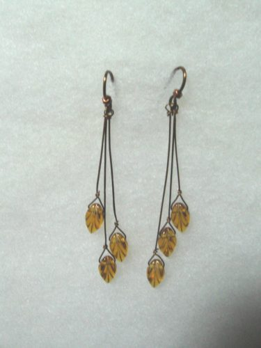 Autumn Leaves Earrings by Sandy West  - featured on Jewelry Making Journal